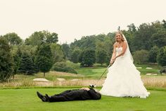 "New meaning to ""keep your eye on the ball"". Photos by Jennifer Images August 20, Got Married, Engagement Session, Amanda, Wedding Hairstyles, Golf, Club, Eye, Photos"