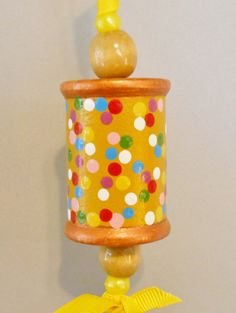 Handpainted Wooden Spool Christmas winter by 2HeartsDesire on Etsy, $5.00