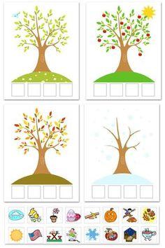 """Season Match-Up"": FREE Printable 4 Seasons Matching Workshe.- ""Season Match-Up"": FREE Printable 4 Seasons Matching Worksheet Jahreszeiten Mehr -"