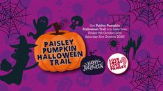 Come and join in the fun with the Paisley Pumpkin Halloween Trail! - Paisley Scotland