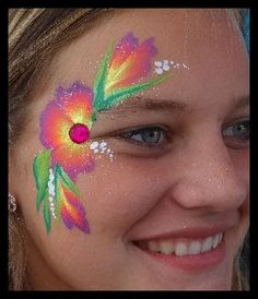 Speed face painting. Fast face painting design.