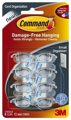 Command Small Cord Clips, Clear, 8-Clip by Command, http://www.amazon.com/dp/B0084M696K/ref=cm_sw_r_pi_dp_-CW2rb1AT59BN