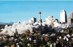 October 1998 - Another angle on the implosion of the General Hospital October 4, General Hospital, Calgary, Seattle Skyline, History, Classic, Photos, Travel, Vintage