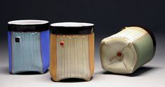 Liz Zlot Summerfield's Little Sippers. Liz Zlot Summerfield was featured in the February 2015 issue of Ceramics Monthly. http://ceramicartsdaily.org/ceramics-monthly/ceramics-monthly-february-2015/