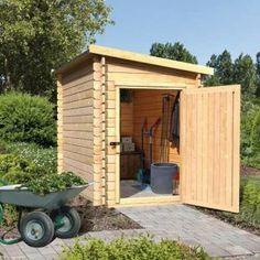 ABRI JARDIN - CHALET Abri de rangement en bois toit incliné 3.71m² -…