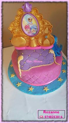 Shimmer and Shine Cake Shimmer And Shine Cake, Cake Pops, Madness, Birthday Cake, Cupcakes, Desserts, Food, Tailgate Desserts, Cupcake Cakes
