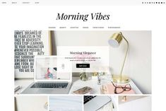 "WordPress Theme ""Morning Vibes"" by Kotryna Bass Design on @creativemarket"
