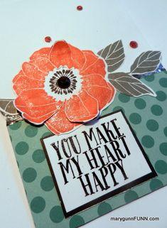 #UseItThursday  #ctmh poppy card  MaryGunnFunn.com