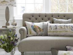 cushions wool velvet linnen fabrics with trimmings Sofa Design, Interior Design, Classic Style, Sofas, Cushions, Couch, Living Room, Fabrics, Velvet