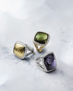accessorize with these colorful rings Jewelry Rings, Jewelry Box, Jewelery, Silver Jewelry, Jewelry Accessories, Fashion Accessories, Fine Jewelry, Fashion Jewelry, Jewelry Design