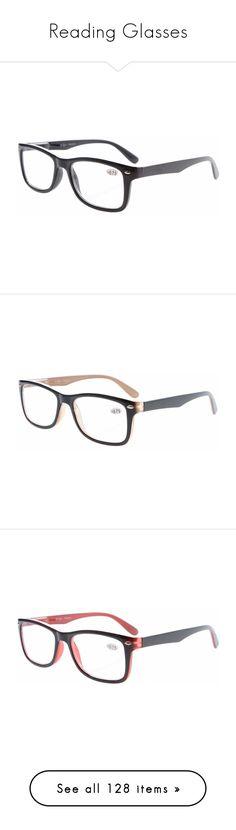 """Reading Glasses"" by eyekepper on Polyvore featuring accessories, eyewear, eyeglasses, vintage inspired glasses, retro eyeglasses, reading glasses, vintage style glasses, vintage style eyeglasses, reading eye glasses and brown eyeglasses"