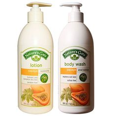 Nature's Gate All Natural Organic Herbal Papaya Lotion Cream and Body Wash Soap Bundle for Soothing Dry Dehydrated Skin with Papain, Sesame, Apricot, Aloe Vera, Calendula and Restorative Enzymes Nature's Gate, Organic Aloe Vera, Coconut Oil For Skin, Dull Skin, Calendula, Face Cleanser, Best Face Products, Body Wash, Herbalism