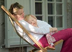 Queen Mathilde with her daughter Princess Elisabeth