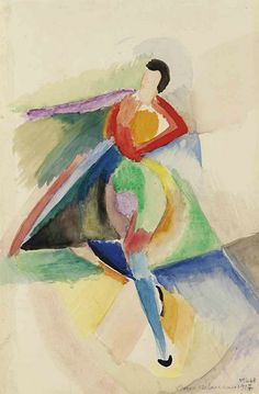 Sonia Delaunay - Danseuse (1917) http://www.flickr.com/photos/centralasian/7357127656/