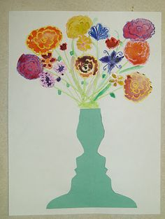Miss Youngs Kunstraum: Negative Space Face Vases der Klasse - Grundschule 3rd Grade Art Lesson, Third Grade Art, Grade 3, Fourth Grade, Spring Art Projects, School Art Projects, School Ideas, Young Art, Art Lessons Elementary