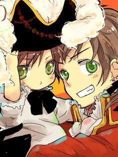Chibi Romano and Pirate Spain