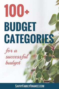 Organize your budget with these budget categories to see where your money is going.budgeting | budget category | budget categories | money category | money categories | organize money
