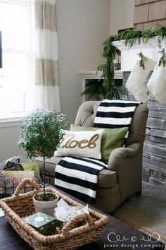rustic with gold for Christmas. Love it!