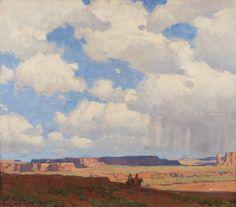 "EDGAR PAYNE Desert Skies Oil on Canvas 28"" x 32"""