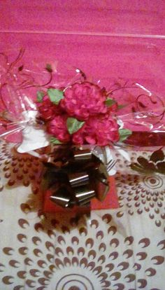 Red & black mothers day arrangement