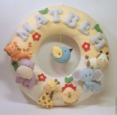 Купить Декор детской. Именной круг - имя малыша, декор детской, именной круг, малыш