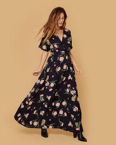 The Lottie Dress Black Floral