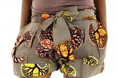 omgville!: Chic Style: Ankara Print Shorts.
