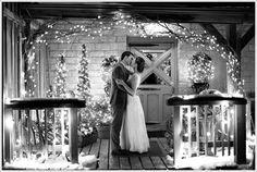 Christmas Wedding with lights