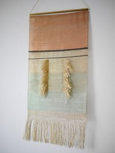 Justine Ashbee is a mesmerizing collection of geometric lines, shimmering metals, and new animistic forms in woven precious metals, golds, and. Weaving Wall Hanging, Wire Weaving, Tapestry Wall Hanging, Hand Weaving, Wall Hangings, Weaving Textiles, Textile Fabrics, Tapestry Weaving, Objet Deco Design