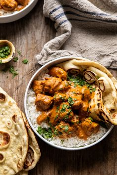 No need for takeout with this Coconut Chicken Tikka Masala.it& healthier,. No need for takeout with this Coconut Chicken Tikka Masala. Cooking Recipes, Healthy Recipes, Healthy Food, Coconut Recipes Savory, Spinach Recipes, Dinner Healthy, Half Baked Harvest, Indian Food Recipes, Wing Recipes