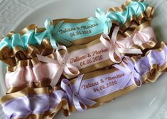 This lovely keepsake garter made from golden and varios color satin ribbon, is decorated with ribbons and beads. Do you wish a toss garter? Wedding Garters, Date, Bridal, Accessories, Bridal Garters, Boyfriends, Personalized Wedding, Bride, Brides