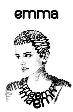Typographic Portrait / Emma Watson #typography #topographic #portrait   #celebrity #emmawatson #type #font #black #black #white #design #graphic #projects
