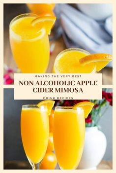 Find easy-to-make comfort food recipes like Healty recipes, dinner recipes and more recipes to make your fantastic food today. Easy Drink Recipes, Nut Recipes, Dinner Recipes, Best Mimosa Recipe, Apple Cider Mimosa, Non Alcoholic, Healthy Drinks, Food To Make