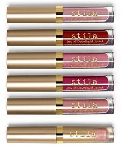 Creating the perfect pout with this set of Stila lip colors that provide full, long-lasting coverage.