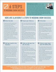 How can you make the most of your investment in wedding shows? Follow these 6 steps from WeddingWire Education Guru Alan Berg to maximize your return.