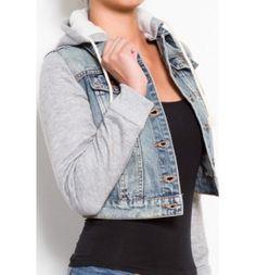 Hooded Denim Jacket $23.99 | DENIM JACKETS | Pinterest | Shops ...