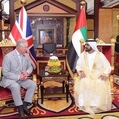 El príncipe Carlos de Inglaterra y el jeque Mohammed bin Rashid bin Saeed Al Maktoum, 11/2016. Vía: sultan41