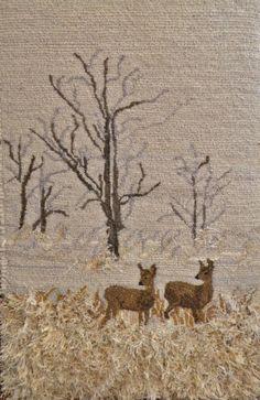 Winter deer 2 by Kathleen Lewis