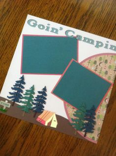 Goin' Campin' PreMade Scrapbook Pages by scrapbookitfancy on Etsy, $18.95