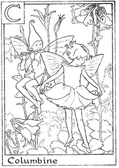 flower fairies coloring pagesfairies coloring page Preschool