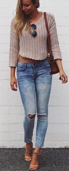 #summer #fblogger #outfits   Blush Sweater + Denim