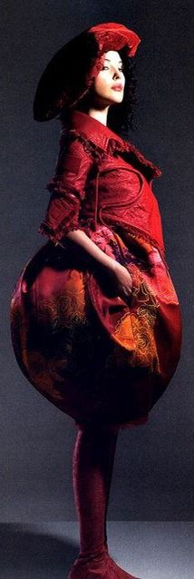 Monica Bellucci and Christian Dior Spring 2005 HC Red Velvet Leather Jacket & Hand-painted Dress Photograph