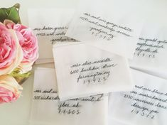 Vellum Envelope Calligraphy Addressing by LindsayLoveLetters