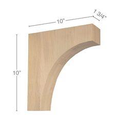 Shelf Brackets Design, Wooden Shelf Brackets, Wooden Corbels, Wooden Shelves, Kitchen Island Corbels, Kitchen Cabinetry, Facade House, Red Oak, Wood Species