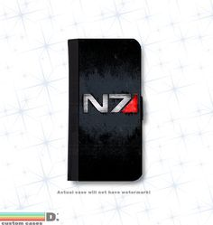 Mass Effect N7 Leather Wallet Phone Case for by DsCustomCases