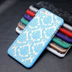 Rubberized Damask Vintage Multi color Pattern Phone Case Product Description: Made of shock absorbing, shatterproof premium Poly carbonate material Beveled fron