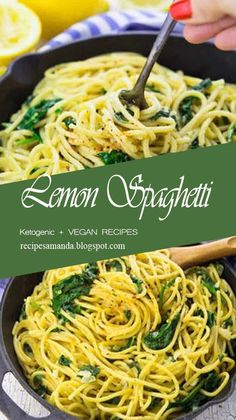 These lemon spaghettì wìth spìnach are the perfect recìpe for busy weeknìghts! It's a one pot meal, super delìcìous