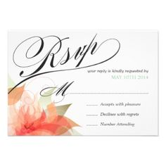 RSVP Peachy Orange Floral Deluxe Custom Invitations today price drop and special promotion. Get The best buyThis DealsOnline Secure Check out Quick and Easy. Wedding Rsvp, Wedding Sets, Green Wedding, Wedding Themes, Discount Wedding Invitations, Elegant Wedding Invitations, Custom Invitations, Invites, Invitation Paper