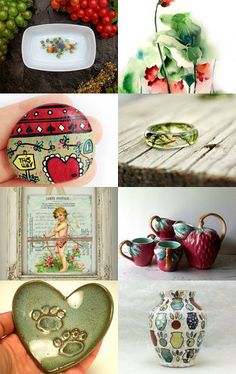 Green and red by Gioconda Pieracci on Etsy--Pinned with TreasuryPin.com