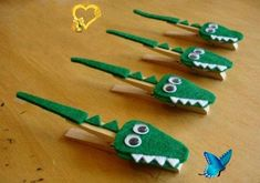 30+ Easy, Upcycled and Creative – DIY Clothespin Crafts Ideas cute diy clothespin crafts for kids crocodile wooden floor decoration<br> Wooden clothespins for hanging up clothes were invented in 1700s. Great invention for so many years,...